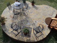 Austin Stone Patio | ... Decking With Oklahoma Stone Patio And Cedar  Pergola Traditional