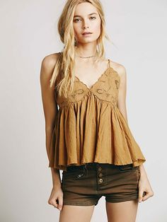 Free People Strappy Cutwork Swing Tank at Free People Clothing Boutique