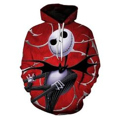 Halloween Harajuku 3D Print the Night Before Christmas Jack Skellington  Skull Sweatshirtsdresslliy 2e26e32ff