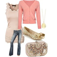 """""""Pink and Gold"""" by rachelgamble on Polyvore"""