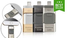 Buy iFlash Drive for iPhone or iPad - 16GB, 32GB or 64GB for just £11.99 Enjoy more storage with the iFlash Drive for iPhone or iPad      Storage options: 16GB, 32GB or 64GB      Drive is available in black, silver or gold      For full specifications please see Full Details      Compatible with any Apple device with an 8-pin lightning port      Fast and high-quality music and video...