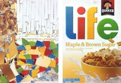 "Cereal Box Deconstruction - A lesson where students ""deconstruct"" cereal boxes into works of art."