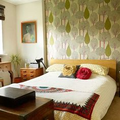 Sunny yellow wallpaper with floral motif | Bedroom wallpaper and what it can do for you | housetohome.co.uk
