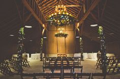 barn reception - floral chandelier and garland decoration at Greengate Ranch Wedding Pics, Wedding Trends, Dream Wedding, Wedding Blog, Black Wedding Dresses, Green Wedding Shoes, Aisle Flowers, Outdoor Wedding Decorations, Wedding Centerpieces