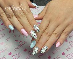 Gel Brush Maybe Baby + Baby Blue by Indigo Educator Marcelina Rawka! Double Tap if you like #nails #nailart #nailpolish Find more Inspiration at www.indigo-nails.com #pastel #powder