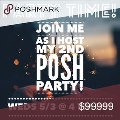 Hosting my 2nd Posh Party! I am hosting my 2nd Posh Party on Wednesday 5/3 @ 4 PM PST. Like this post for updates! Theme will be announced as soon as I get it! Be sure to tag the closets below that you would like to nominate for host picks and I will check out your closet too! Please share!! Michael Kors Bags Shoulder Bags