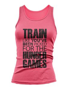 Train For the Hunger Games Tank Top Exercise Workout by JustScott