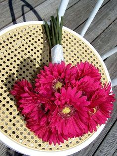 FUCHSIA GERBERA WEDDING BOUQUET