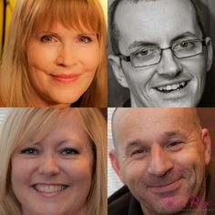 Celebrities featured in Kevin Healey's documentary about Autism: Dr Pam Spur (top left), Dave Gentry (bottom right), Dawn Lowe (bottom left) and Kevin Healey (top right).