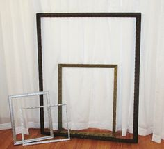 Picture frame props.  Uniquely Yours Wedding Design