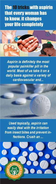 Aspirin is definitely the most popular painkiller pill in the world. Most of us take it on a daily basis against a variety of cardiovascular and other health problems, but not many people know that the pill is great for many other things as well. Continue reading below to learn more about aspirin's amazing otherContinue Reading