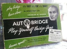 Just in: #Vintage 1950s 1960s #Auto #bridge #Game #playyourself  #CharlesGoren  #Advanced #Set  #CompleteGame   https://www.etsy.com/listing/508445660/vintage-1950s-1960s-auto-bridge-game?utm_campaign=crowdfire&utm_content=crowdfire&utm_medium=social&utm_source=pinterest