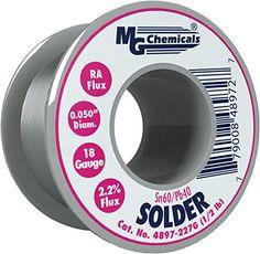 Cheap MG Chemicals 60/40 Rosin Core Leaded Solder 0.05 Diameter 1/2 lbs Spool deals week