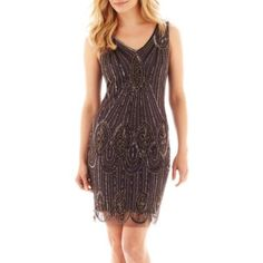 Prelude Sleeveless Beaded Dress  found at @JCPenney