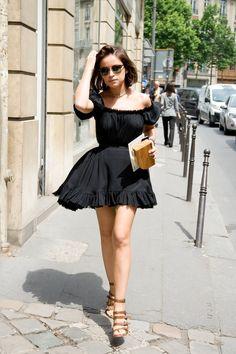 Fashion Guru Miroslava Duma In Dress Street Chic Couture