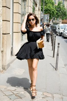 Fashion Guru Miroslava Duma In Dress Street Chic Couture