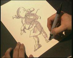 Vroeger moesten de makers van animatiefilms elke tekening met de hand maken. Nu wordt veel met de computer gedaan. Maar het is nog steeds veel werk! Hoe het precies gaat? Dat zie je hier.