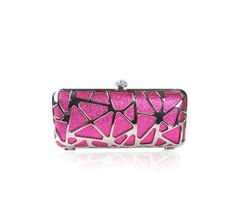 Ever Pretty Rhinestones Hand Shoulder Clasp Party Clutch Wedding Evening Bag. New clutch wedding evening bag A top diamante clasp style It has a long metal strap which is 120cm, a short metal strap which is 39cm The bag's size (length*width*height) : 18.5*4.5*10cm