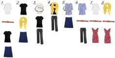 8 wardrobe capsule outfits