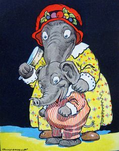 Eddie elephant, Johnny Gruelle, via Etsy.