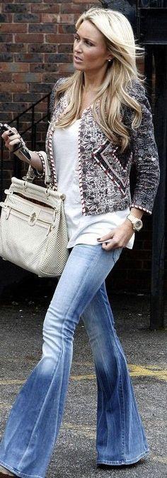 @Jess Liu Patel ♔ Boho Jacket & jeans And I love her hair : http://www.shopprice.us/women+jeans