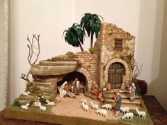 Pin by Anita Fernandes on Christmas floral Christmas Cave, Christmas Crib Ideas, Christmas Nativity Set, Christmas Village Display, Christmas Villages, Christmas Wood, Handmade Christmas, Christmas Crafts, Christmas Decorations