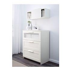 IKEA BRIMNES Wandschrank mit Schiebetür weiß 78x30 cm