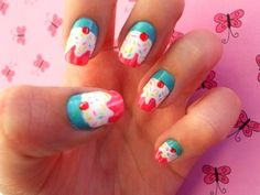 Cupcake Nails- too cute not to try! <3 the colors.