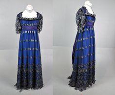 Victorian edwardian BLUE Titanic lace costume by LotofVIntage, $250.00