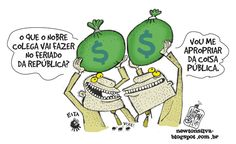Chargista Cearense Newton Silva: A COISA PÚBLICA