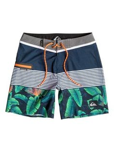 Quiksilver Remix - Board Shorts for Boys Sporty Swimwear, Boys Swimwear, Streetwear Shorts, Surf Wear, Mens Boardshorts, Man Swimming, Swim Trunks, Mens Fashion, Fashion Goth