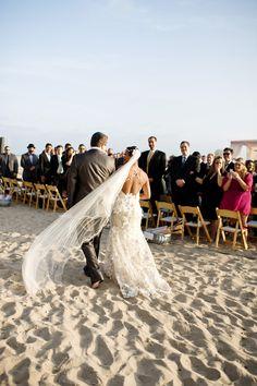 Beach wedding at Casa Del Mar in Santa Monica - from Bob Gail Events and Next Exit Photography   via junebugweddings.com