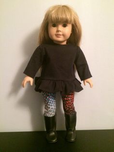 American Girl Doll Clothing - Tunic, Leggings & Boots - FREE U.S. SHIPPING