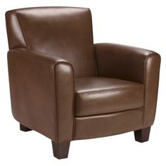 Threshold™ Nolan Bonded Leather Club Chair - Camel Quick Information