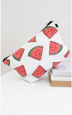 Watermelon cosmetics bag in white print | SHOWPO Fashion Online Shopping