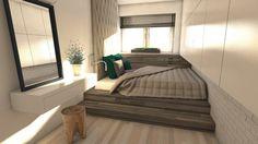 Wnętrza, Sypialnie - Sypialnia w naturalnych, stonowanych kolorach