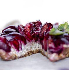 Tarte de cereja ( vegan)