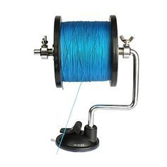 SAMSFX Portable Universal Fishing Line Spool Winder System Works on Any Size Rod