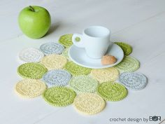 free crochet coffee placemat pattern