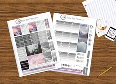 Up in the Clouds Theme Printable Planner by BusyBeePaperCo on Etsy