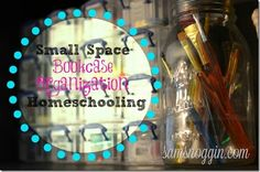 Small Space Homeschooling: Bookcase Organization