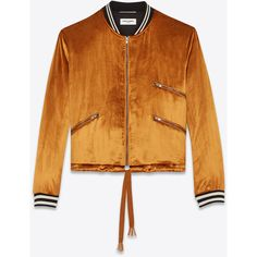 Saint Laurent Varsity Jacket With Three Pockets ($2,935) ❤ liked on Polyvore featuring outerwear, jackets, college jacket, zipper pocket jacket, varsity-style bomber jacket, teddy jacket and varsity bomber jacket