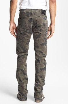 Hudson Jeans 'Byron' Straight Leg Jeans (Field Camo) | Nordstrom
