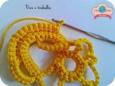 Luciana Ponzo Criações em Crochê: Aprenda a fazer a Flor Amarilis