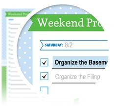 "Weekend Project List- Download here: https://www.alejandra.tv/shop/printable-home-organizing-checklists/?productkind=checklists-for-personal-organization&utm_source=Pinterest&utm_medium=Pin&utm_content=Weekend&utm_campaign=Checklists/#personal  Let this checklist help you to prioritize all the tasks/goals you want to accomplish over the weekend! Ideal for ""home improvement"" weekends or weekends where you need to buckle down, be productive, and get stuff done!"