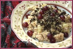 An Indulging Porridge Oatmeal with steamed apples, bananas, grapes and hempseed http://wp.me/p3W0AN-uo