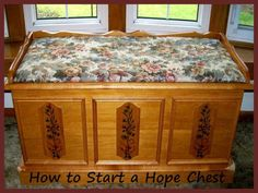 """The author's current """"hope chest"""" - now mostly filled with years of writing materials, poetry and scribbles that no one has ever seen, etc.  Source:  Sharyn's Slant"""