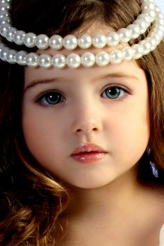 Beautiful Girl with Pearls