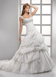 Vicenza Organza With Body-slimming Asymmetrical Waist A-line Wedding Dress