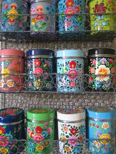 Kashmiri Spice Tins - eclectic - food containers and storage - Not on the High Street